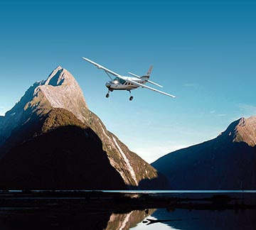 Milford Sound coach, cruise, fly