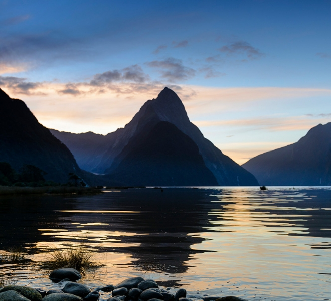 Milford Sound clear evening