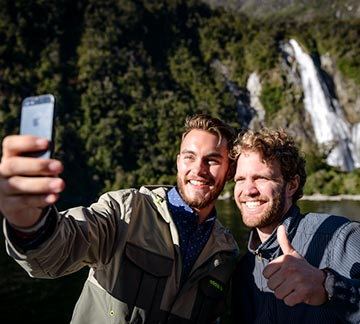 awesomeNZ Milford Sound cruise selfie