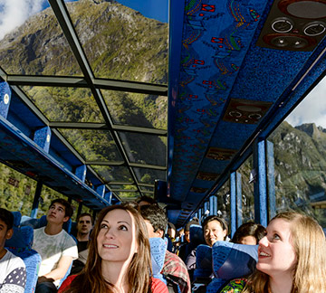 Milford Sound GreatSights glass roof coach