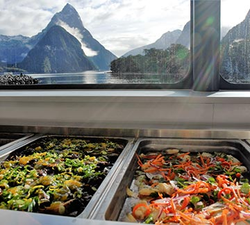 Milford Sound cruise buffet lunch