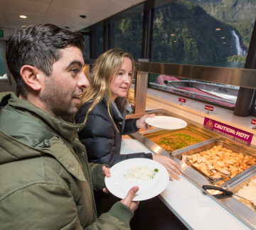 Milford Sound Cruise buffet