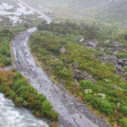 Milford Road closed by flooding