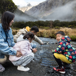 Visiting Milford Sound with Kids - Monkey Creek, Fiordland National park